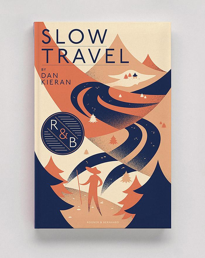 Travel Book Cover : Slow travel matt chase design illustration